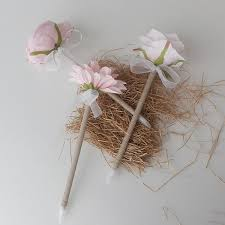 wedding guest book and pen light pink peony flower pen wedding guest book pens rustic wedding