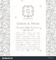 Design An Invitation Card Invite Card Floral Monogram Template Wedding Stock Vector