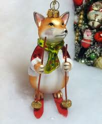 17 best fox ornaments images on foxes tree