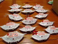 painted crab shell santa claus ornament 20 00 via etsy