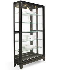 Curio Cabinets Pair Drake Dual Slide Contemporary Curio Cabinet Furniture Macy U0027s