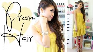 prom hairstyle side swept braid long hair tutorial bebexo medium