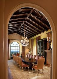 Tuscan Style Chandelier Tuscan Style Dining Room With Vaulted Ceiling And Chandelier