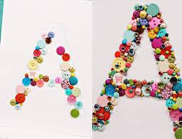 Monogram Letters Home Decor Home Decor Monogram Letters Of The Buttons Art Ideas Crafts