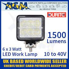 420 lumen led work light durite 0 420 78 led flood work l light