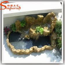 Indoor Rock Garden - china factory cheap price fiberglass rock waterfall statue hotel