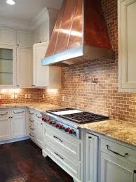 Kitchen With Brick Backsplash Top 25 Best Copper Hood Ideas On Pinterest Copper Range Hoods
