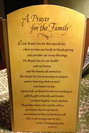 thanksgiving prayers for the family and the