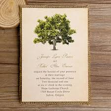 tree wedding invitations green tree burlap layered wedding invitations ewls018 as