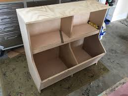 Build Wood Toy Box by Bookcase With Toy Storage Rogue Engineer