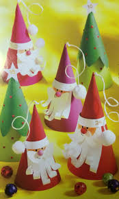 cute cone santas and christmas trees crafts and worksheets for