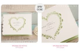 Burial Invitation Card Cute Heart Shape Laser Cut Invitation Wpl0060