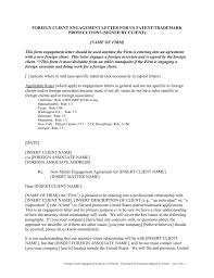 Attorney Termination Letter by Foreign Client Engagement Letter For Us Patent