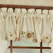 Sunflower Valance Curtains Sunflower Tailored Valance Light 60 X 12 Touch Of Class
