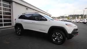 suv jeep white 2015 jeep cherokee trailhawk white fw502843 mt vernon