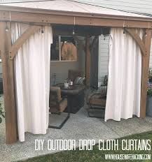 Outdoor Canvas Curtains Drop Cloth Outdoor Curtains Housewife Hacking