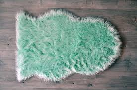 Mint Area Rug Machine Washable Faux Sheepskin Mint Area Rug Kroma Carpets