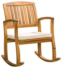 sadie rocking chair with cushion beach style outdoor rocking