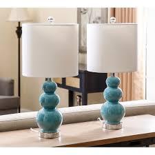 Small Blue Desk Lamp Abbyson Camden Gourd Turkish Blue Table Lamp Set Of 2 Free