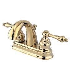 kingston brass restoration 4 in centerset 2 handle mid arc