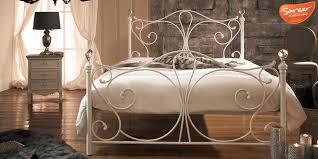White Metal Kingsize Bed Frame Sareer Sherry White Metal King Size Bed