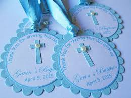 personalized baptism favors personalized blue baptism gift tags favor tags communion