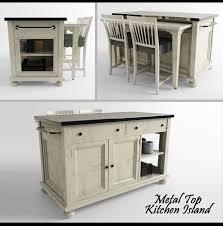 metal top kitchen island 3d printable model metal top kitchen island cgtrader