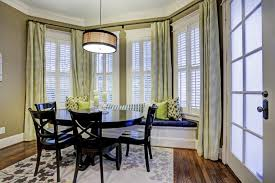 windows window treatments ideas with dining room window treatments