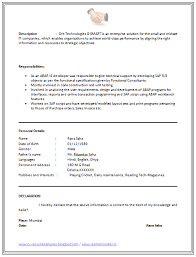 Declaration In Resume Sample Resume Chemical Engineering Student It Data Analyst Resume If