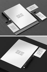 Black And White Design by Free Black And White Office Mock Up On Behance