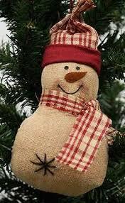 primitive fabric snowman ornament ornaments