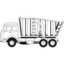 truck coloring pages monster tow dump coloring pages