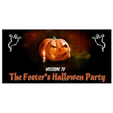 pumpkin halloween party banner backdrop decoration paper blast