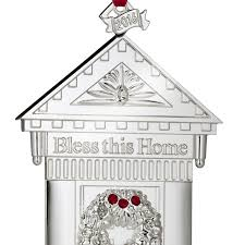waterford bless this home silver ornament 2016 silver superstore