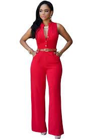 womens pant jumpsuit zest v neck jumpsuit belt wide legs and