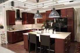 ikea grey kitchen cabinets l shape kitchen decoration using red cherry wood ikea kitchen