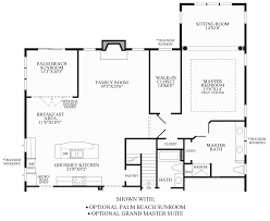Centralized Floor Plan by Regency At Emerald Pines The Farmington Home Design