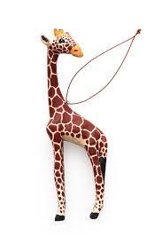 carved giraffe ornament