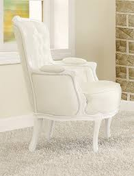 White Accent Chair Acme Furniture Cain White Accent Chair Acme 59147