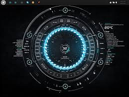 Futuristic Clock Browse Rainmeter Customization Deviantart