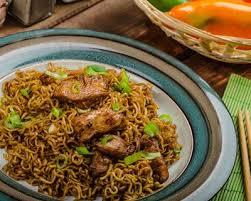 image de recette de cuisine recette nouilles chinoises au poulet et sauce soja