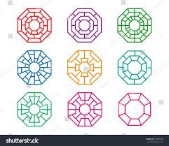 set modern octagon korean pattern window stock vector 615840476 set of modern octagon korean pattern window frame