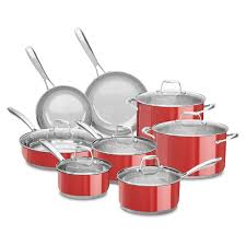 Kitchen Aid Colors by Best Kitchenaid Stainless Steel Cookware Set 14 Pc Assorted