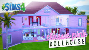 196 Best Barbie Dream House Speed Build Classic Pink Dollhouse The Sims 4 Youtube