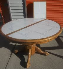 ceramic tile table top diy round tile table top tile designs