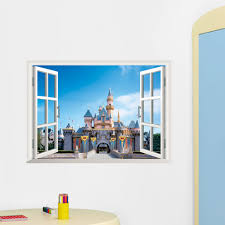compare prices princess wall online shopping buy low price princess castle window wall sticker decal for kids rooms children nursery home decor art