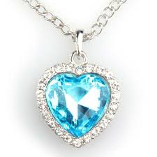 titanic blue heart necklace images Titanic heart of the ocean necklace jpg