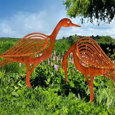 corten steel animal garden decorations garden ornaments statues