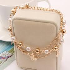 chain bracelet designs images Pretty mini butterfly design chain bracelet for girl summer dress jpg