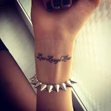 love yourself tattoo on wrist for girls real photo pictures